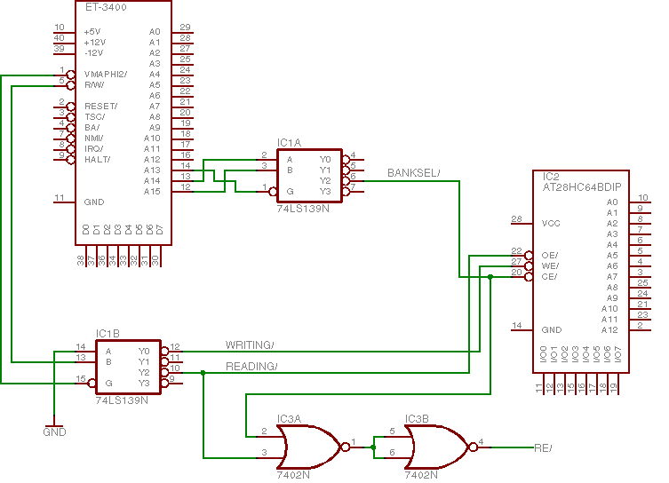Schematic for ET-3400 EEPROM project